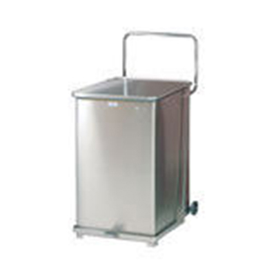 Rubbermaid FGST40ERBWH 40-gal Defenders Step Waste Can - White