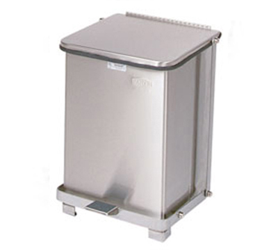 Rubbermaid FGST7SSRB 7-gal Defenders Step Waste Can - Stainless