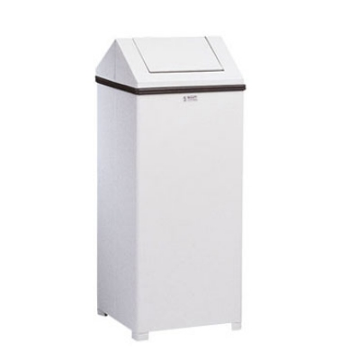 Rubbermaid FGT1424ERBWH 24-gal Wastemaster Receptacle - Hinged Top, White