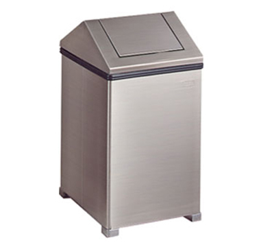 Rubbermaid FGT1424SSPL 16-gal Wastemaster Receptacle - Hinged Top, Stainless