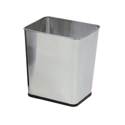 "Rubbermaid FGWB29RSS 13-1/2"" Steel Wastebasket - 7-1/4-gal Capacity, Stainless"