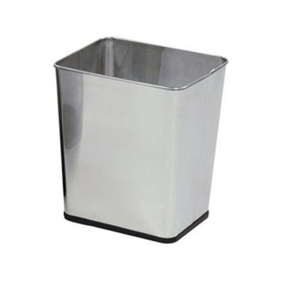 """Rubbermaid FGWB29RSS 13-1/2"""" Steel Wastebasket - 7-1/4-gal Capacity, Stainless"""