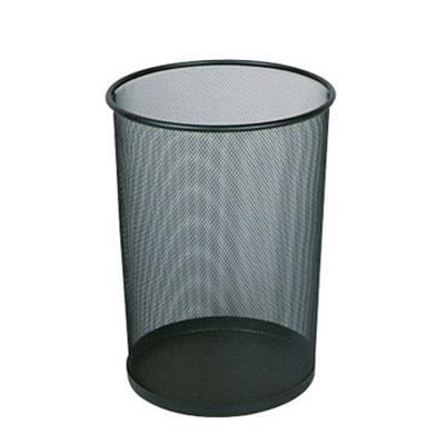 Rubbermaid FGWMB20SLV 5-gal Steel Wastebasket - Open Top, Silver
