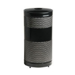 "Rubbermaid FGS3EGBKPL 25-gal Classics Recycling Receptacle - ""Cans or Bottles"" Plastic Liner, Black"