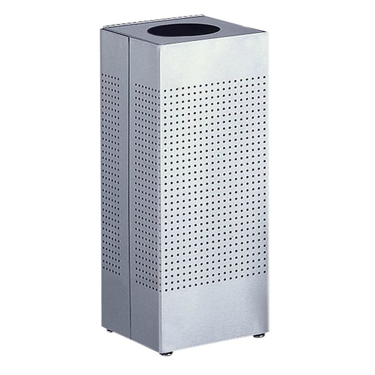 Rubbermaid FGSC10SSPL 6-gal Indoor Decorative Trash Can - Metal, Stainless Steel