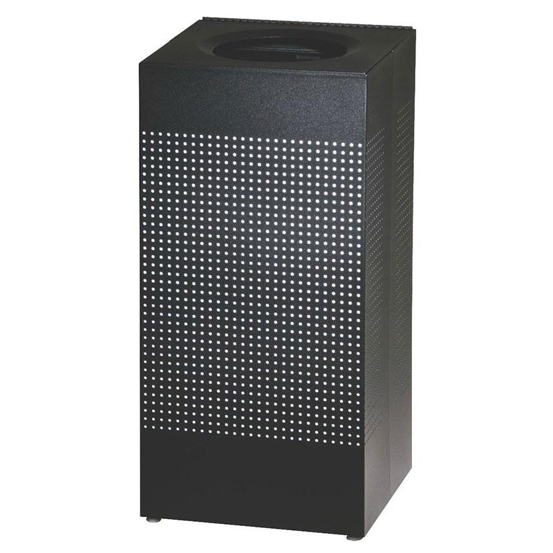 Rubbermaid FGSC14ERBTBK 24-gal Silhouette Square Indoor Receptacle - Plastic Liner, Textured Black