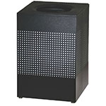 Rubbermaid FGSC22EPLTBK 40-gal Indoor Decorative Trash Can - Metal, Black