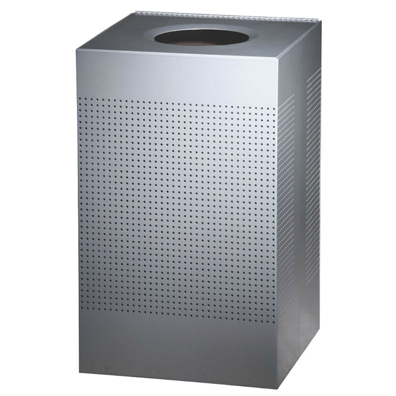 Rubbermaid FGSC22ERBSM 50-gal Indoor Decorative Trash Can - Metal, Silver