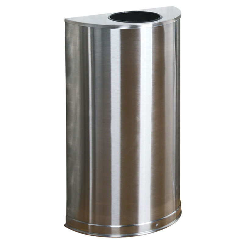 Rubbermaid FGSO12SSSPL 12-gal Indoor Decorative Trash Can - Metal, Stainless Steel