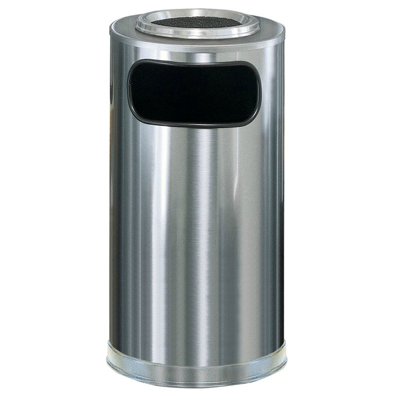 Rubbermaid FGSO16SUSSSGL Trash Can Top Cigarette Receptacle - Decorative Finish