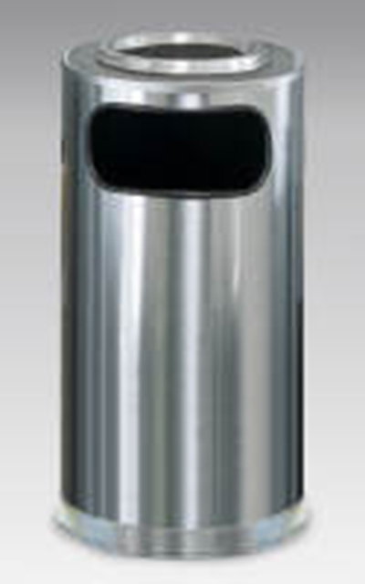 Rubbermaid FGSO16SUSSSGL 12-gal European Ash/Trash Receptacle - Galvanized Liner, Satin Stainless