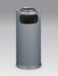 Rubbermaid FGSO17SUSCGRGL 15-gal European Ash/Trash Receptacle - Galvanized Liner, Gray/Chrome