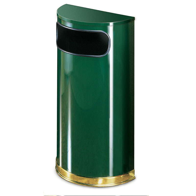 Rubbermaid FGSO810PLEGN 9-gal Indoor Decorative Trash Can - Metal, Empire Green