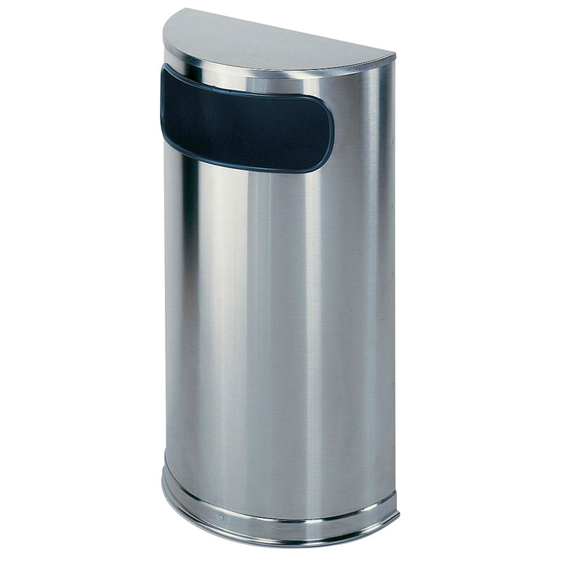 Rubbermaid FGSO8SSSPL 9-gal Indoor Decorative Trash Can - Metal, Stainless Steel
