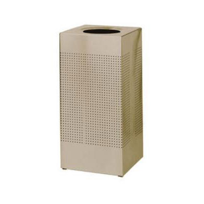 Rubbermaid FGSR14ERBDP 25-gal Indoor Decorative Trash Can - Metal, Desert Pearl
