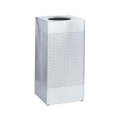 Rubbermaid FGSR14ERBSM 25-gal Indoor Decorative Trash Can - Metal, Silver