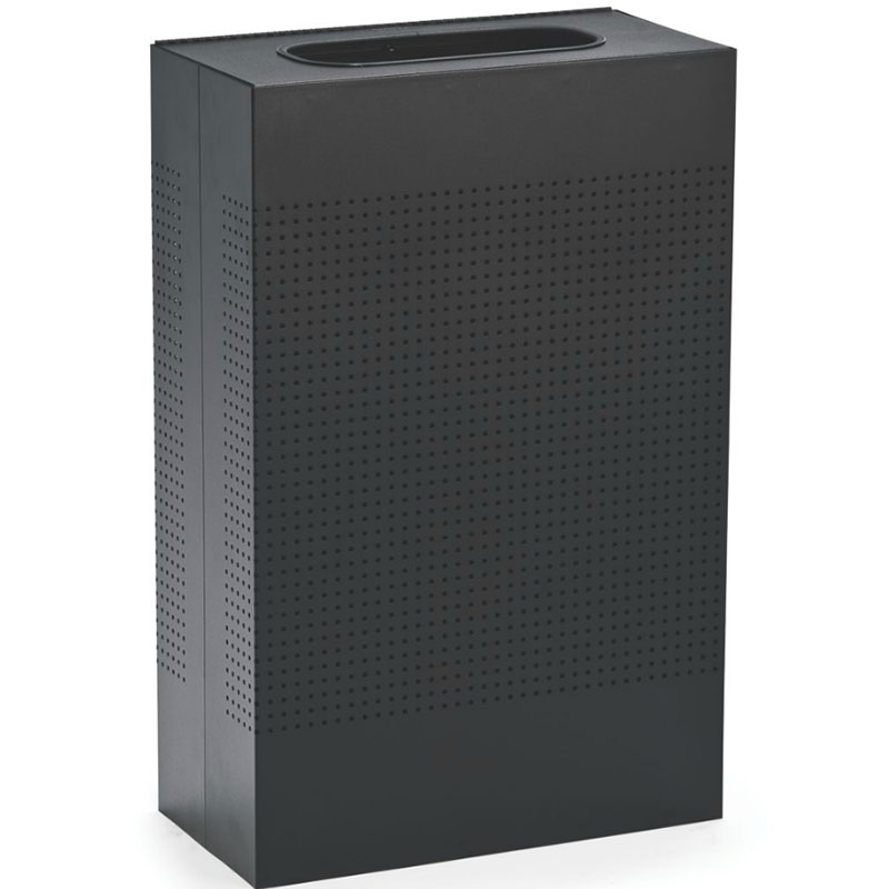 rubbermaid 25gal indoor decorative trash can metal black