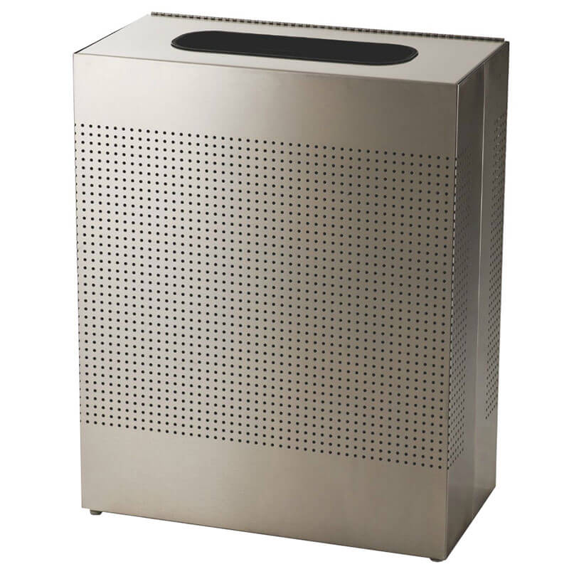 Rubbermaid FGSR18SSRB 40-gal Indoor Decorative Trash Can - Metal, Stainless Steel