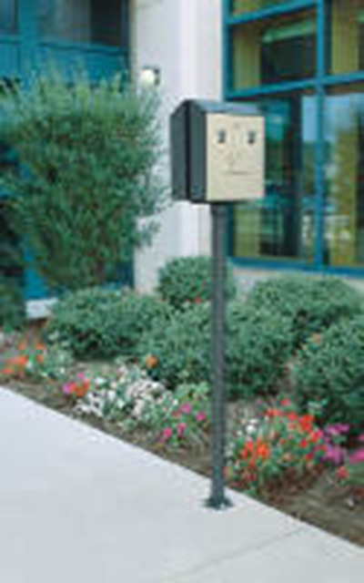 Rubbermaid FGSSSM Smokers' Station Surface Mount Pole