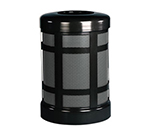 Rubbermaid FGA38TBKPL 38-gal Architek Waste Receptacle - Hinged Open Top, Black/Anthracite