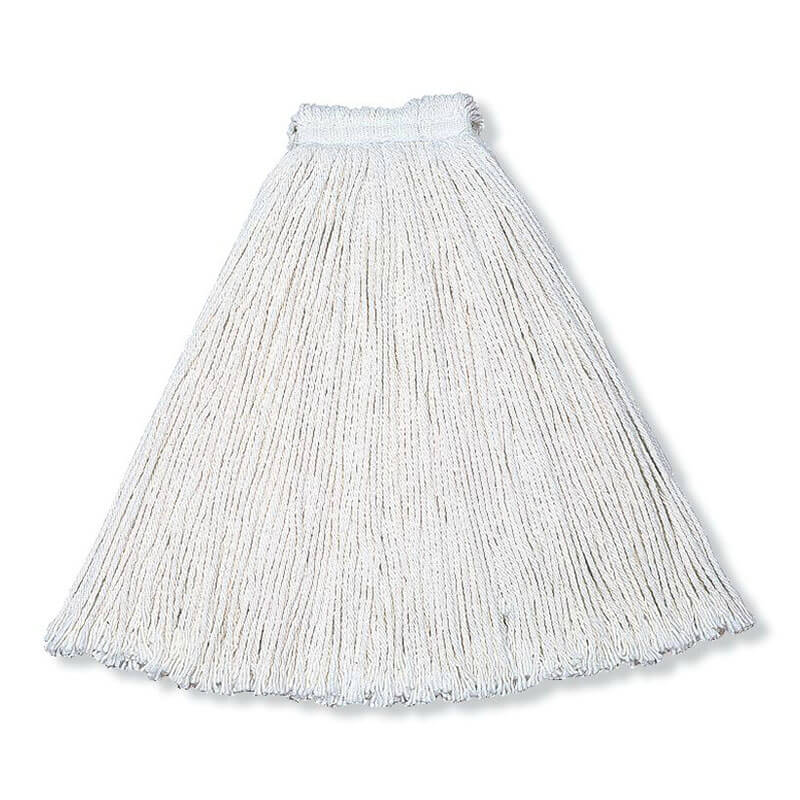 "Rubbermaid FGV11800WH00 Economy Mop Head - #24, 1"" Headband, Cotton Yarn, White"