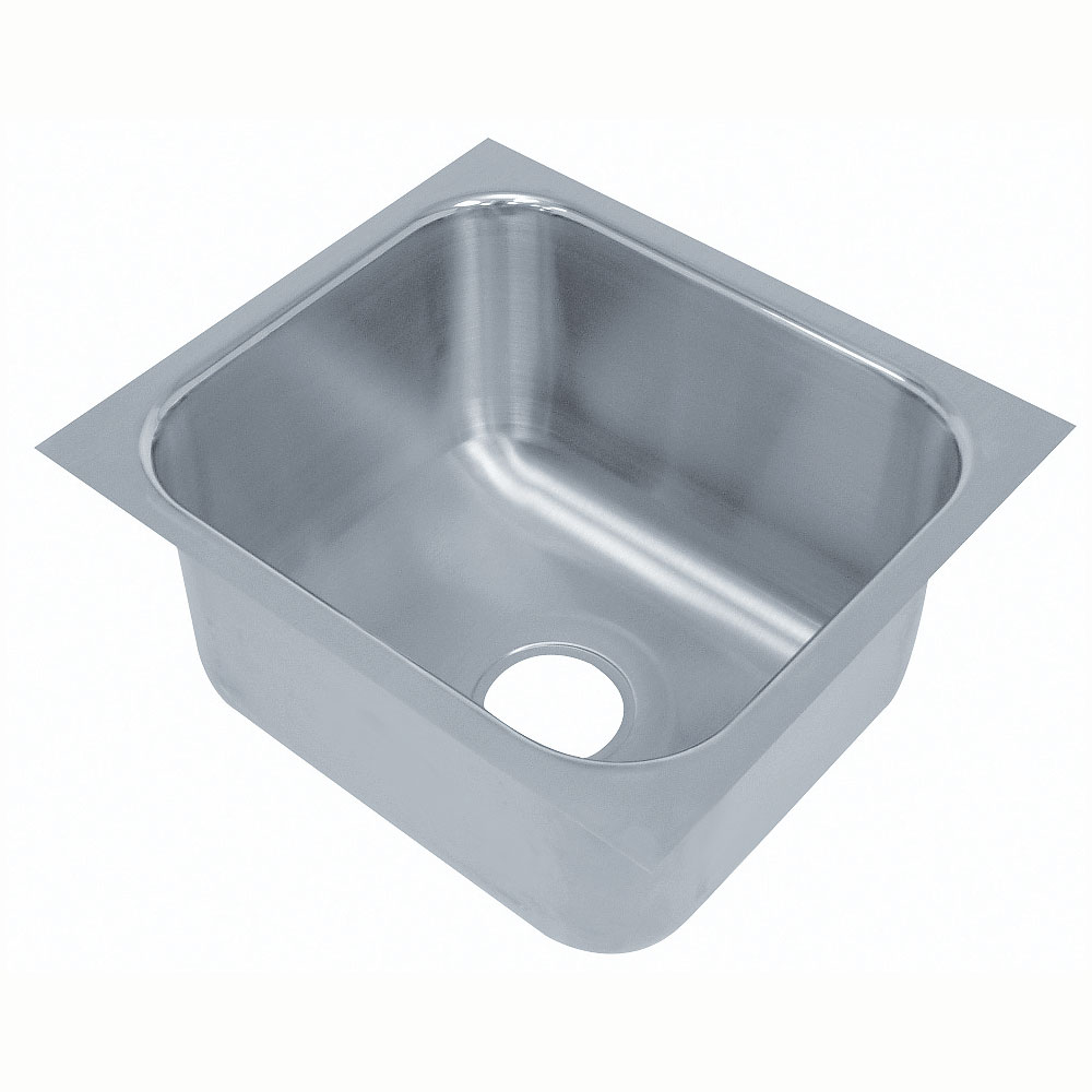 "Advance Tabco 2020B-08 Undermount Sink - 20x20x8"" Bowl, 18-ga 304-Stainless"