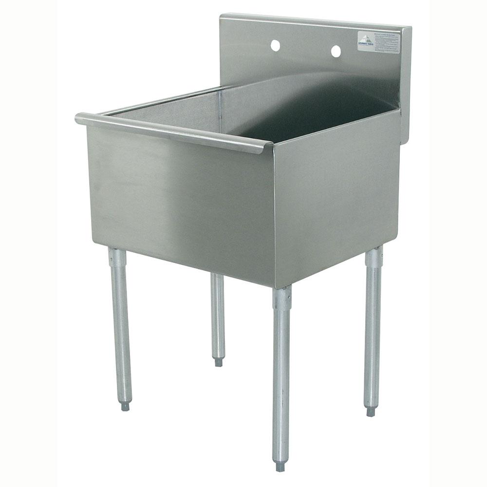 """Advance Tabco 6-1-24 24"""" 1-Compartment Sink w/ 24""""L x 21""""W Bowl, 14"""" Deep"""