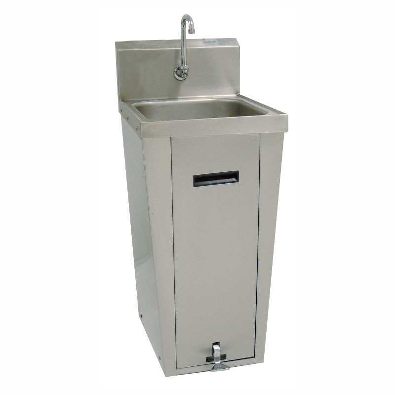 "Advance Tabco 7-PS-18 Pedestal Commercial Hand Sink w/ 14""L x 16""W x 6""D Bowl, Gooseneck Faucet"