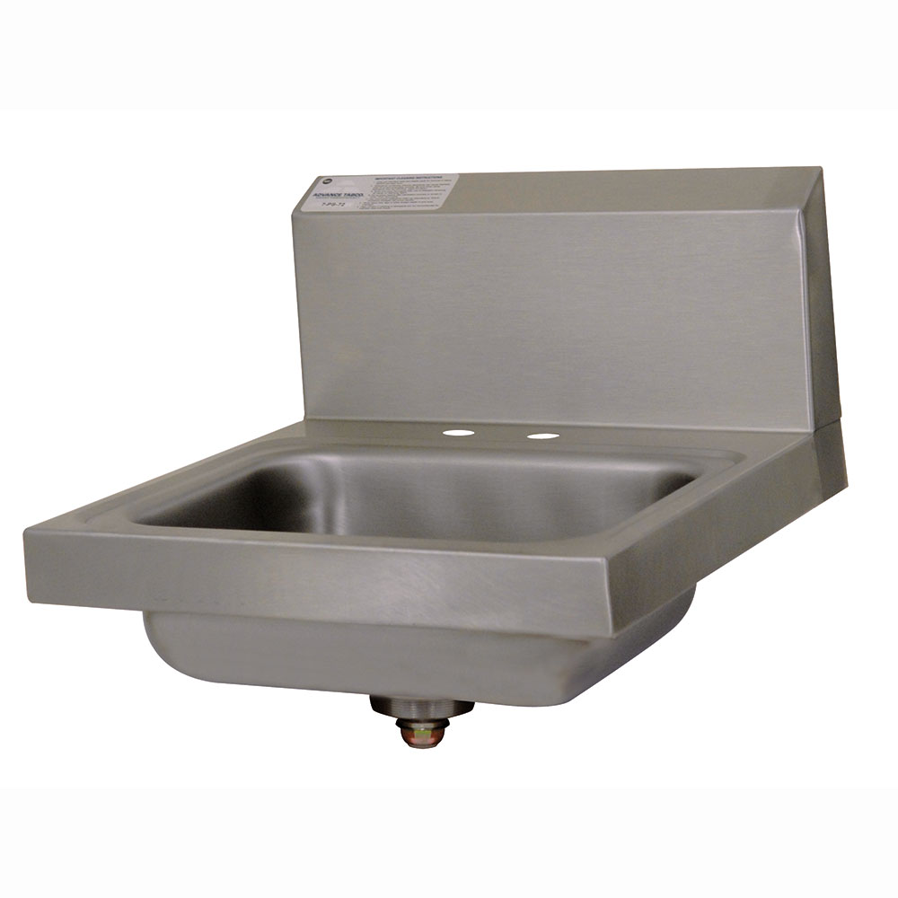 "Advance Tabco 7-PS-20-NF Wall Mount Commercial Hand Sink w/ 14""L x 10""W x 5""D Bowl, Basket Drain"