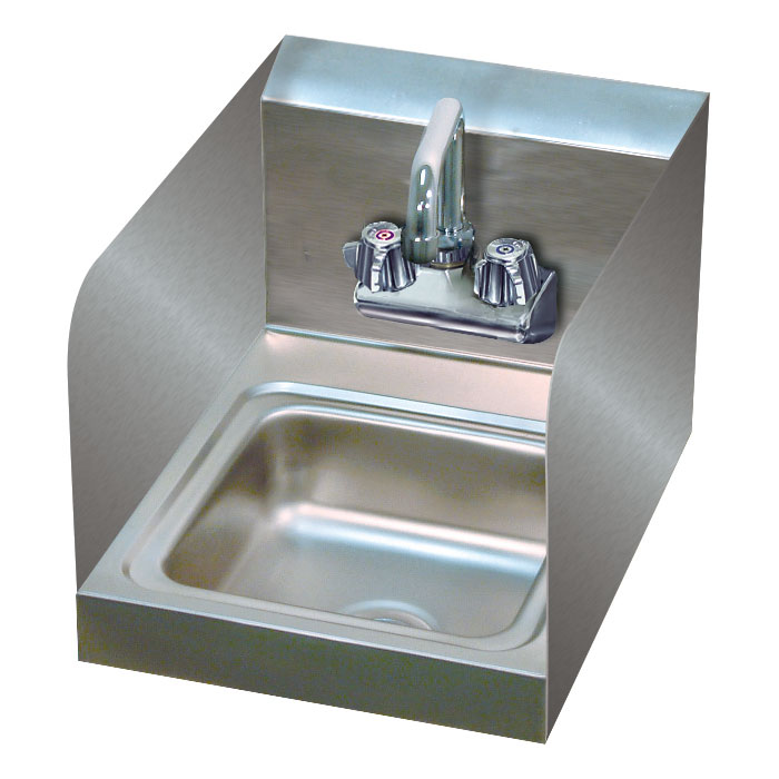 """Advance Tabco 7-PS-23-EC-SP-2X Wall-Mount Commercial Hand Sink w/ 9"""" x 9"""" x 5"""" Bowl, Basket Drain"""
