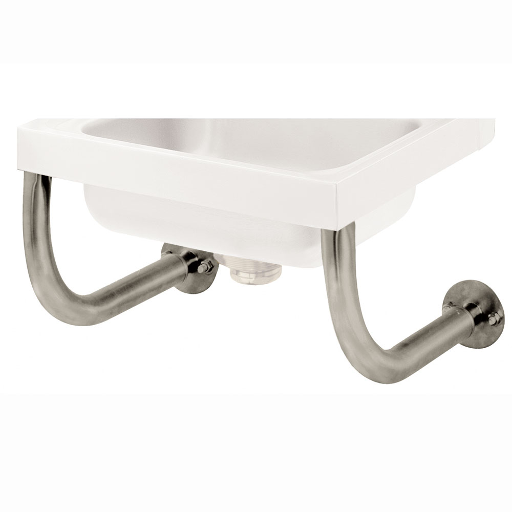 "Advance Tabco 7-PS-24 Tubular Wall Support Brackets for Sinks - 10x14"" Bowl, Splash Mount Faucet"