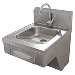 "Advance Tabco 7-PS-41 Wall Mount Commercial Hand Sink w/ 14""L x 16""W x 5""D Bowl, ADA Compliant"
