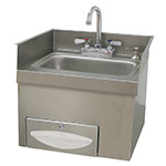 "Advance Tabco 7-PS-42 Wall Mount Commercial Hand Sink w/ 14""L x 10""W x 5""D Bowl, Gooseneck Faucet"