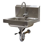 "Advance Tabco 7-PS-51 Wall Mount Commercial Hand Sink w/ 14""L x 10""W x 5""D Bowl, Electronic Faucet"