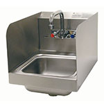 "Advance Tabco 7-PS-56 Wall Mount Commercial Hand Sink w/ 9""L x 9""W x 5""D Bowl, Side Splashes"