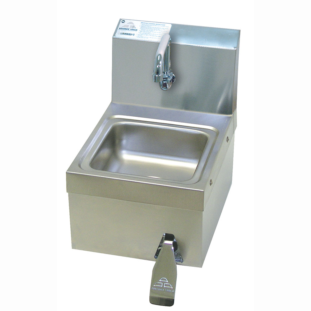 Advance Tabco 7 Wall Sink w/ Knee Operated No Lead Faucet Restaurant Supply