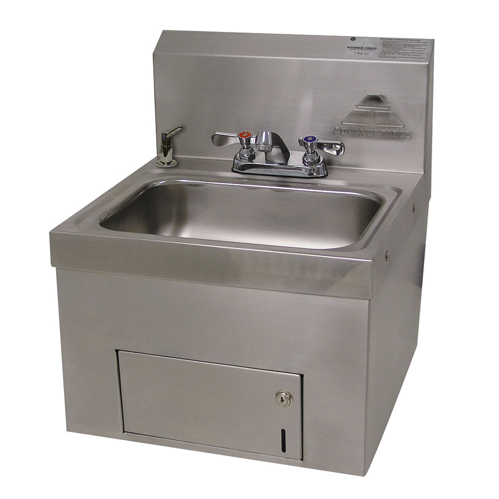 Commercial Hand Sink : Advance Tabco 7-PS-65 Wall Mount Commercial Hand Sink w/ 14