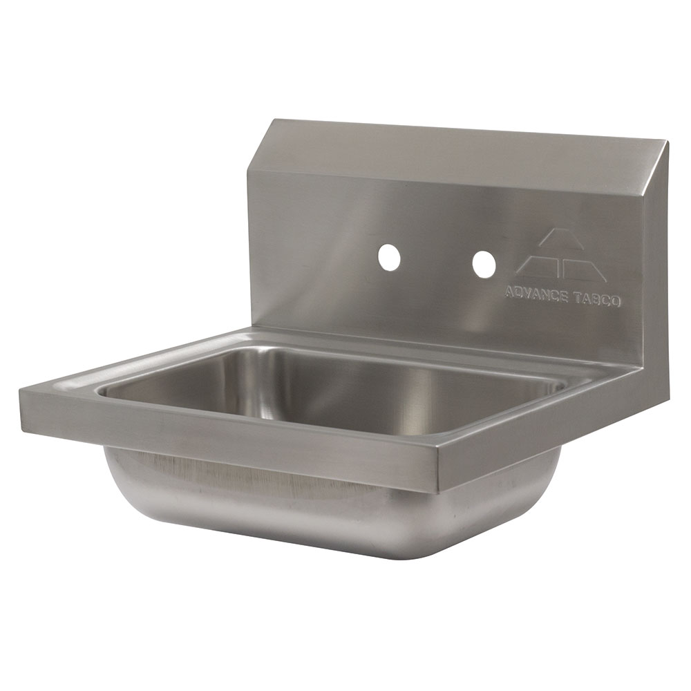 "Advance Tabco 7-PS-70 Wall Mount Commercial Hand Sink w/ 14""L x 10""W x 5""D Bowl, Basket Drain"