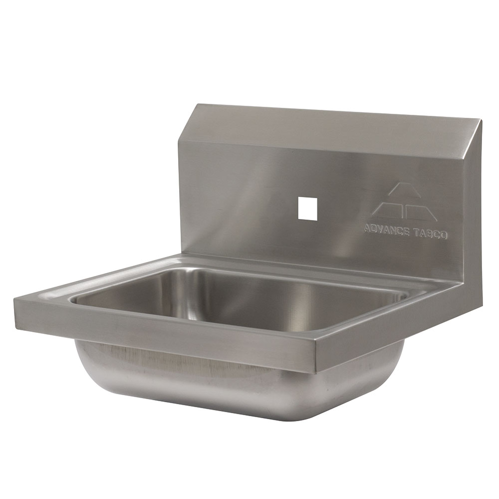 "Advance Tabco 7-PS-71 Wall Mount Commercial Hand Sink w/ 14""L x 10""W x 5""D Bowl, Basket Drain"