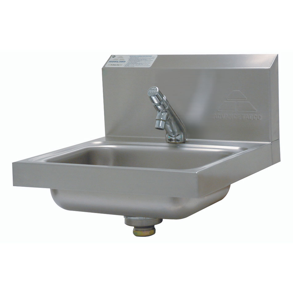 "Advance Tabco 7-PS-72 Wall Mount Commercial Hand Sink w/ 14""L x 10""W x 5""D Bowl, Basket Drain"