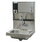 "Advance Tabco 7-PS-79 Wall Mount Commercial Hand Sink w/ 14""L x 10""W x 5""D Bowl, Basket Drain"