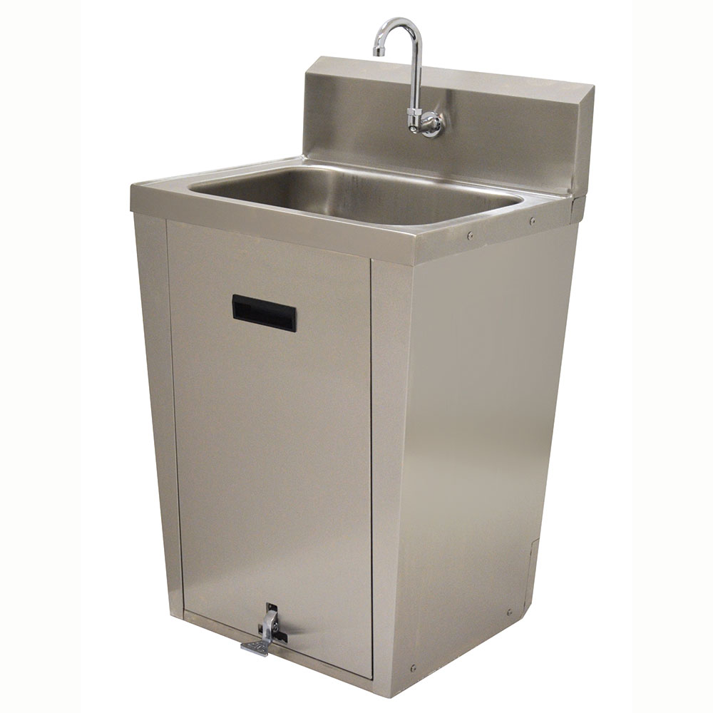 "Advance Tabco 7-PS-86 Pedestal Commercial Hand Sink w/ 20""L x 16""W x 8""D Bowl, Pedal Valve"