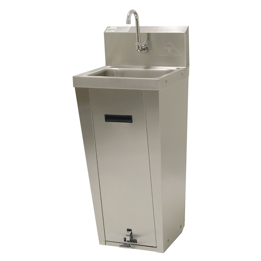 "Advance Tabco 7-PS-90 Pedestal Commercial Hand Sink w/ 14""L x 10""W x 5""D Bowl, Pedal Valve"