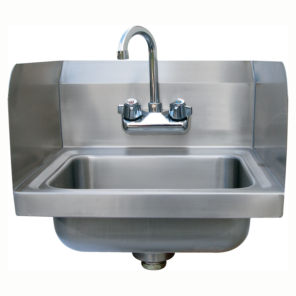 "Advance Tabco 7-PS-EC-SP Wall Mount Commercial Hand Sink w/ 14""L x 10""W x 5""D Bowl, Basket Drain"