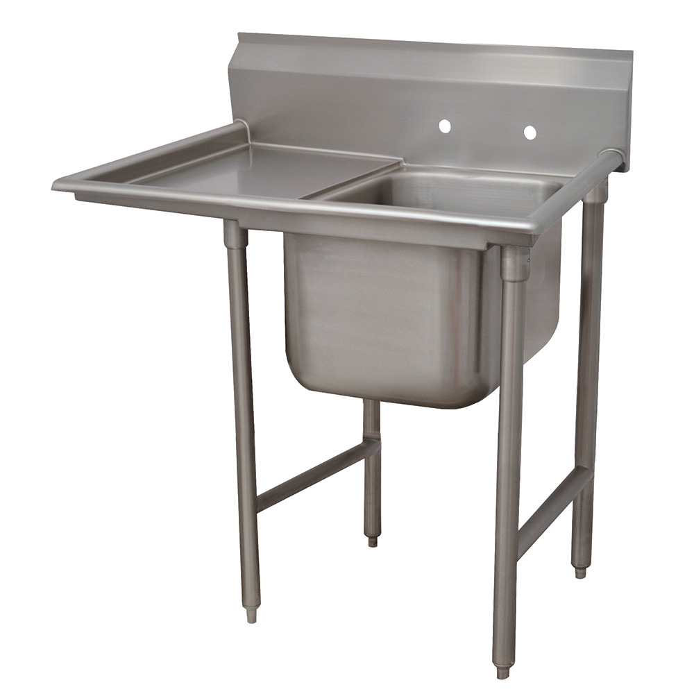 "Advance Tabco 9-1-24-18L 40"" 1-Compartment Sink w/ 16""L x 20""W Bowl, 12"" Deep"