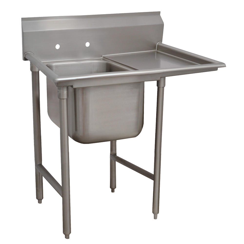 "Advance Tabco 9-1-24-18R 40"" 1-Compartment Sink w/ 16""L x 20""W Bowl, 12"" Deep"