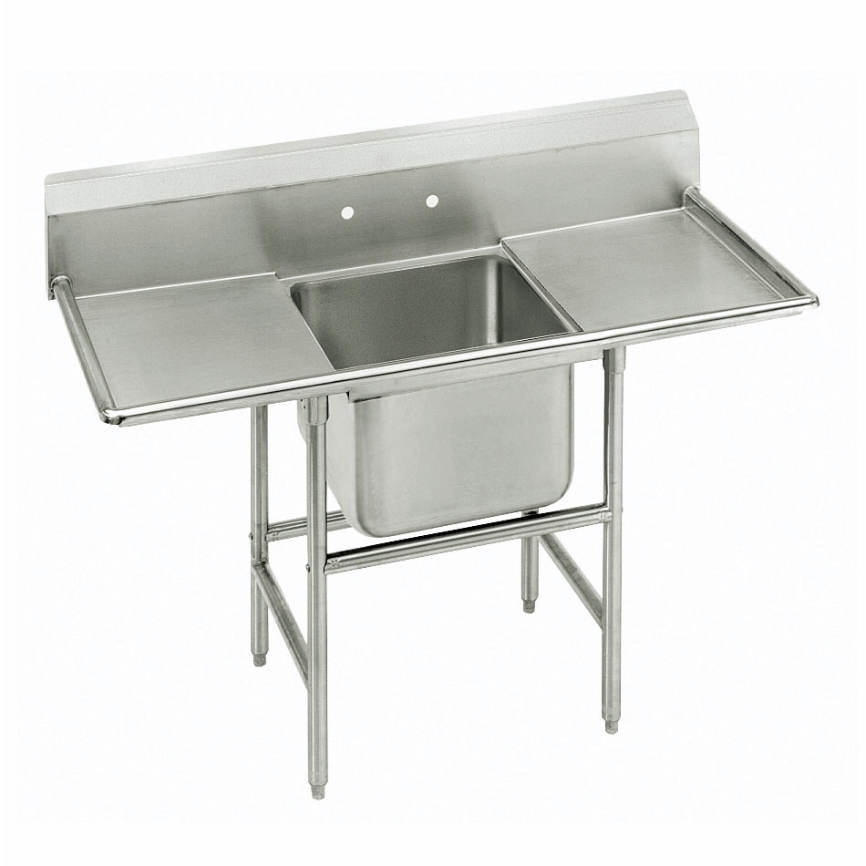 "Advance Tabco 9-1-24-24RL 66"" 1-Compartment Sink w/ 16""L x 20""W Bowl, 12"" Deep"