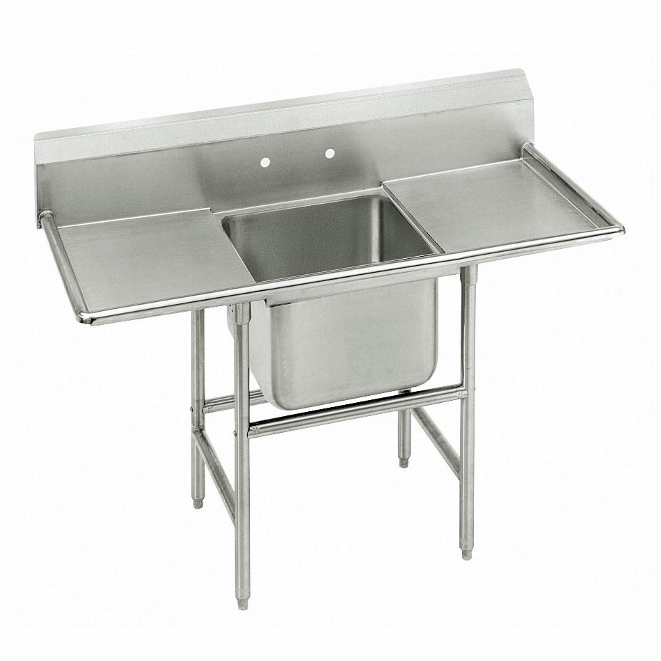 """Advance Tabco 9-21-20-24RL 70"""" 1-Compartment Sink w/ 20""""L x 20""""W Bowl, 12"""" Deep"""