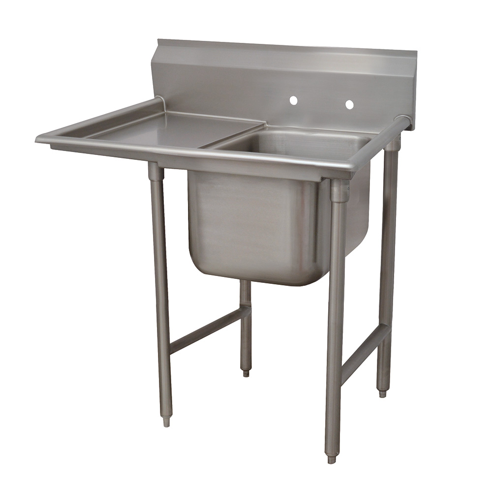 "Advance Tabco 93-1-24-18L 40"" 1-Compartment Sink w/ 16""L x 20""W Bowl, 12"" Deep"