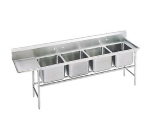 Advance Tabco 93-24-80-36L Sink, (4) 20 x 20 x 12-in D, 36-in Left Drainboard, 16-Ga. Stainless